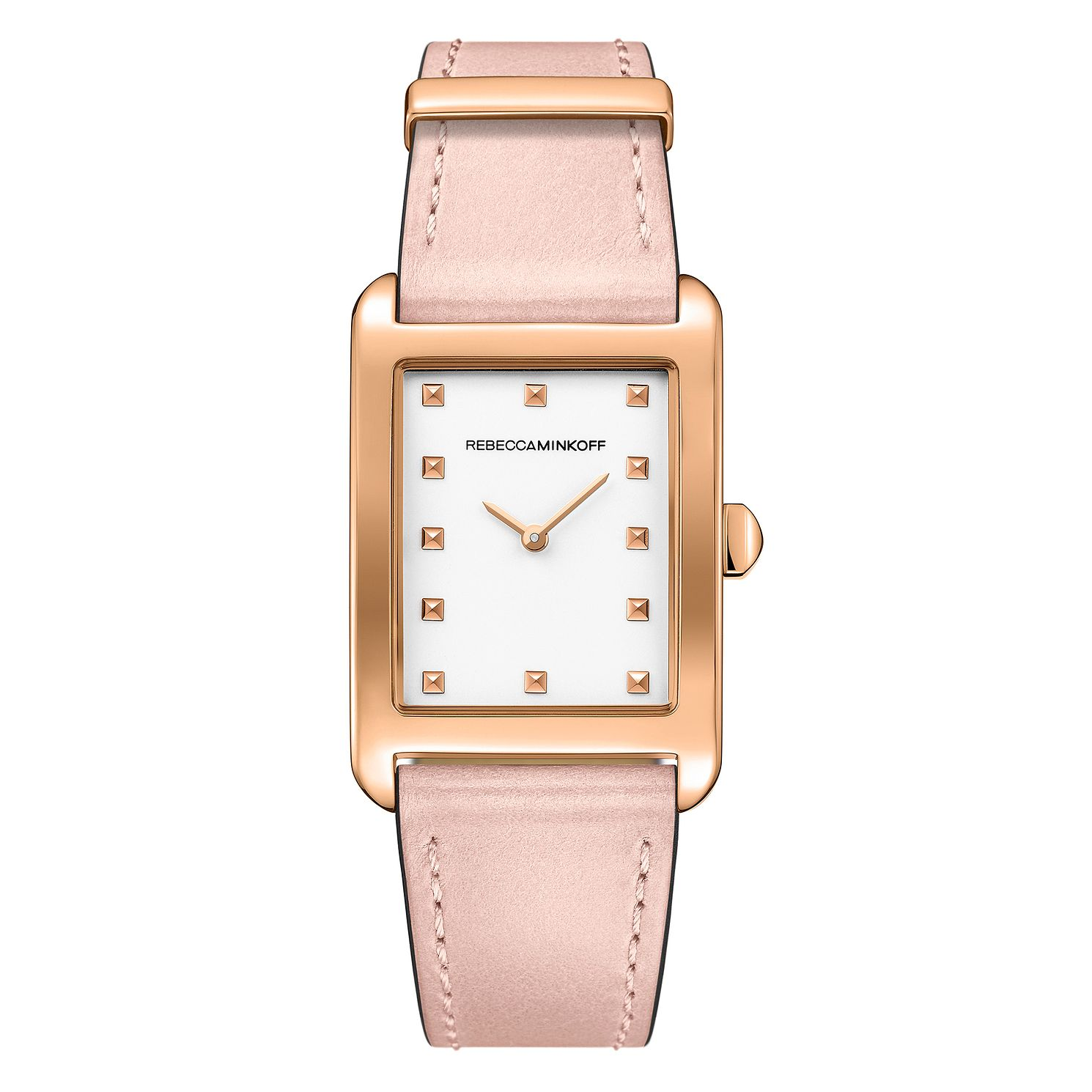 Rebecca Minkoff Moment Ladies' Pink Leather Strap Watch - Product number 9746870