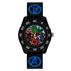 Avengers Black Case Black Rubber Strap Time Teacher Watch - Product number 9751920