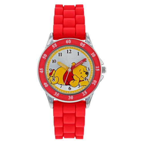 Winnie the Pooh Red Rubber Strap Time Teacher Watch - Product number 9752048