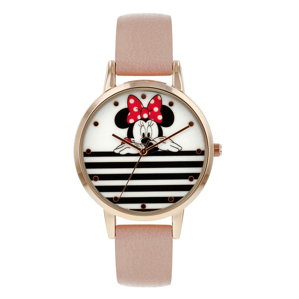 Minnie Mouse Rose Gold Case Pink Strap Watch - Product number 9752080
