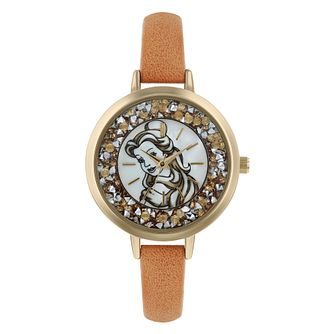 Disney Belle Brown PU Strap Watch - Product number 9752102