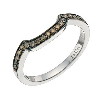 Le Vian 14ct Vanilla Gold Chocolate 0.18ct Diamond Band - Product number 9758429