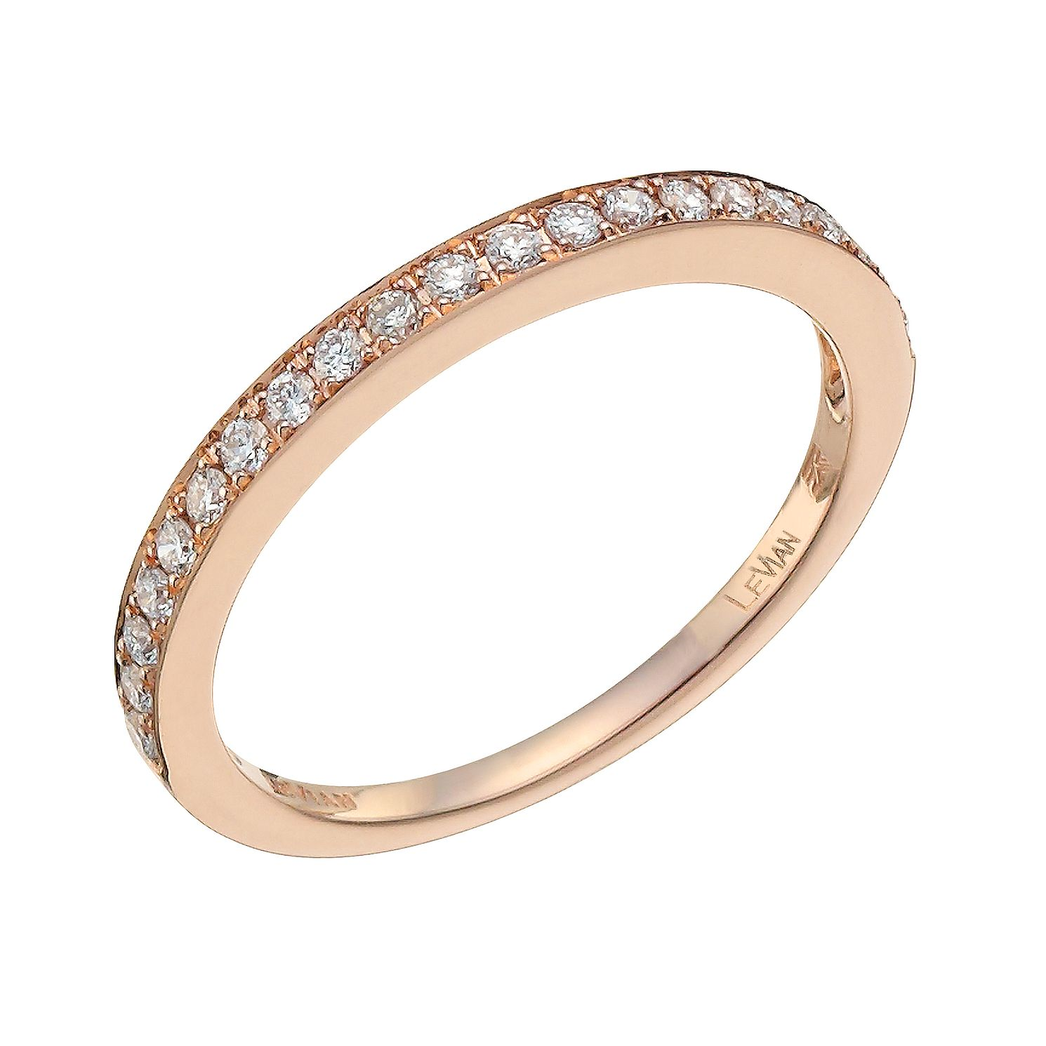 Le Vian 14ct Strawberry Gold 0.22ct Diamond Band - Product number 9758852