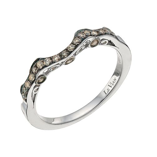Le Vian 14ct Vanilla Gold Chocolate Diamond shaped band - Product number 9759247