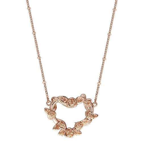 Ever After Disney Rose Gold Plated Belle Rose Pendant - Product number 9773576