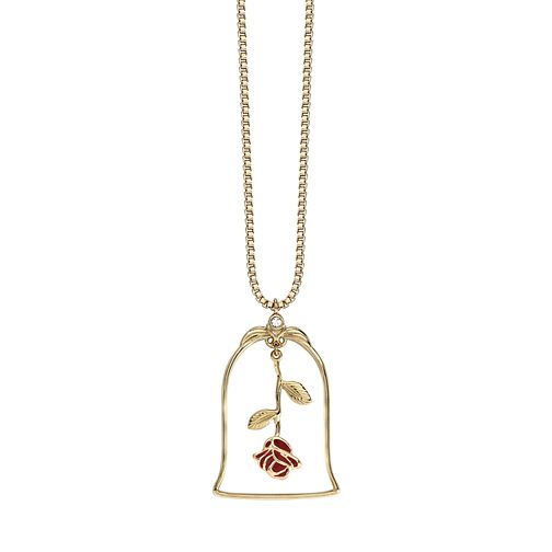 e419461d4 Ever After Disney Gold Plated Belle Enchanted Rose Pendant - Product number  9773754
