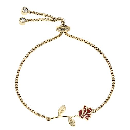 Ever After Disney Gold Plated Belle Rose Bracelet - Product number 9773878