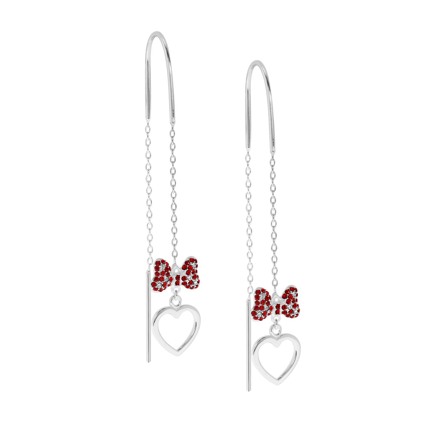 Ever After Disney Minnie Bow & Heart Drop Earrings - Product number 9773908