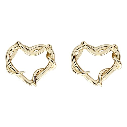 Ever After Disney Gold Plated Belle Twisted Heart Earrings - Product number 9774084