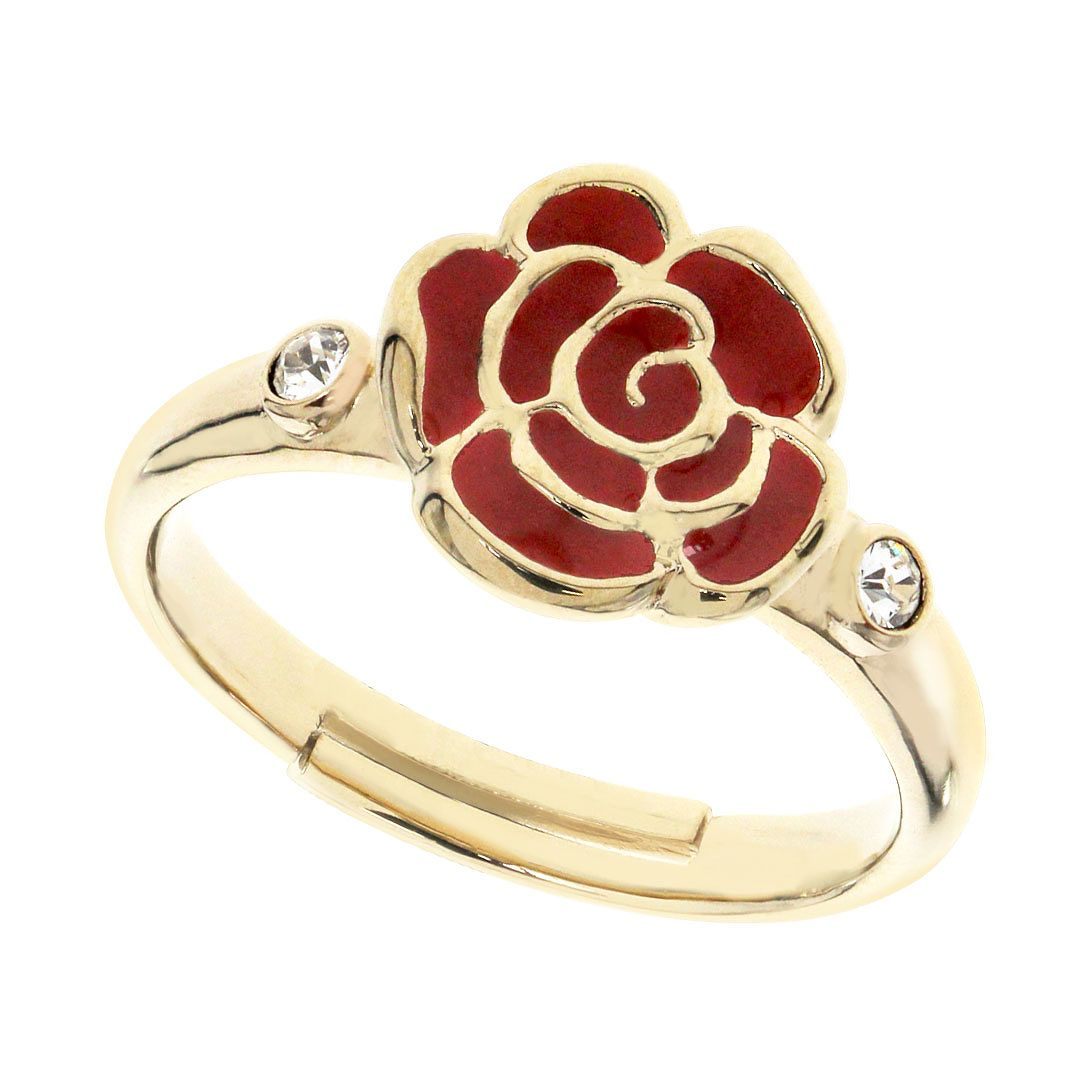 Ever After Disney Gold Plated Belle Rose Ring - Product number 9774149