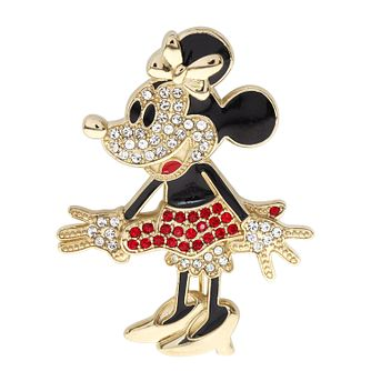 Ever After Disney Rhodium Plated Minnie Crystal Brooch - Product number 9774181