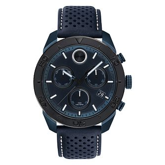 Movado Bold Men's Sport Black Leather Strap Watch - Product number 9774297