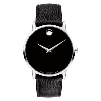 Movado Museum Men's Black Strap Watch - Product number 9774327