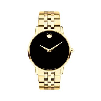 Movado Men's Museum Classic Yellow Gold Plated  Watch - Product number 9774394
