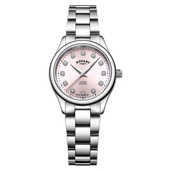 Rotary Oxford Diamond Ladies' Stainless Steel Bracelet Watch - Product number 9774459