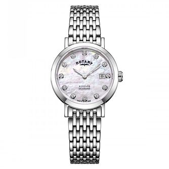Rotary Ladies' Windsor Pink Mother of Pearl Dial Watch - Product number 9774483