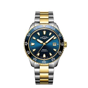 Rotary Henley Men's Two-Tone Bracelet Watch - Product number 9774564