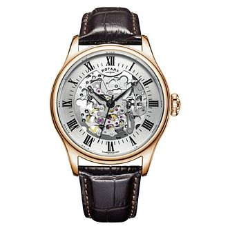 Rotary Men's Greenwich Automatic Rose Gold Plated Watch - Product number 9774602
