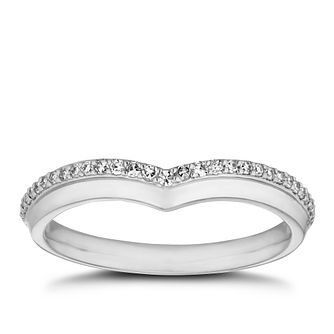 Platinum 0.12ct Diamond Shaped Wedding Band - Product number 9775315