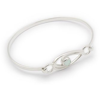 Ortak Silver and White Opal Swirl Bangle - Product number 9779035