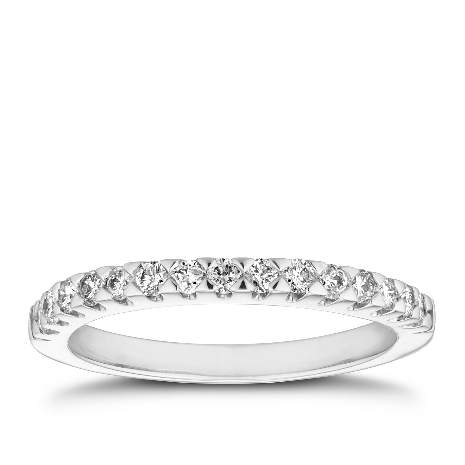 Platinum 1/3ct Diamond Brilliant Cut Wedding Band - Product number 9779396