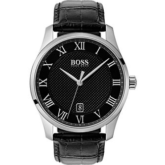 Hugo Boss Stainless Steel Black Strap Watch - Product number 9779825