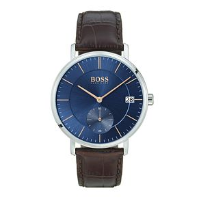 Hugo Boss Corporal Men's Blue Strap Watch - Product number 9779892