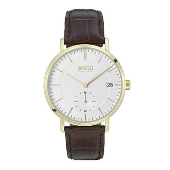 BOSS Men's Corporal White Strap Watch - Product number 9779906