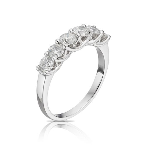 Platinum 1ct 6 Stone Diamond Eternity Ring - Product number 9780815