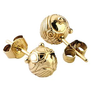 Harry Potter Gold Plated Snitch Stud Earrings - Product number 9781137