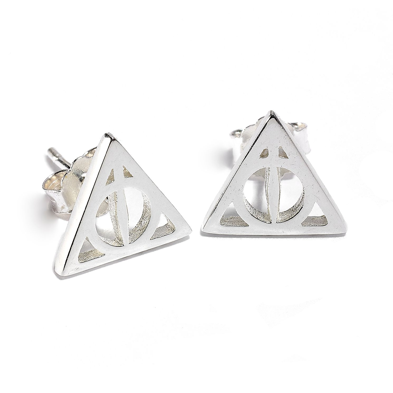 Harry Potter Sterling Silver Deathly Hallows Stud Earrings - Product number 9781188