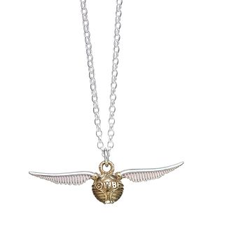 Harry Potter Sterling Silver Golden Snitch Necklace - Product number 9781234