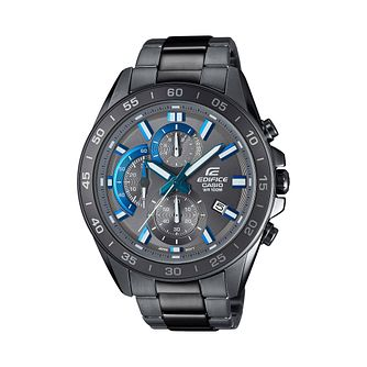 Casio Edifice Men's IP Stainless Steel Grey Bracelet Watch - Product number 9782559