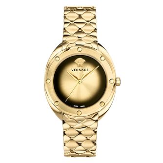 Versace Shadov Ladies' Gold Plated Bracelet Watch - Product number 9782915