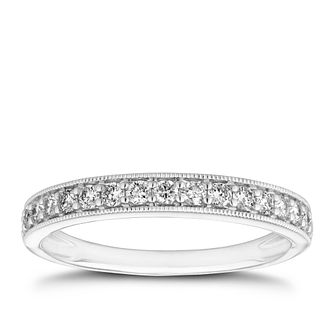 Platinum 0.30ct Diamond Milgrain Wedding Band - Product number 9783067