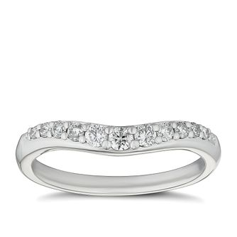 Platinum 1/4ct Diamond Shaped Wedding Band - Product number 9783571