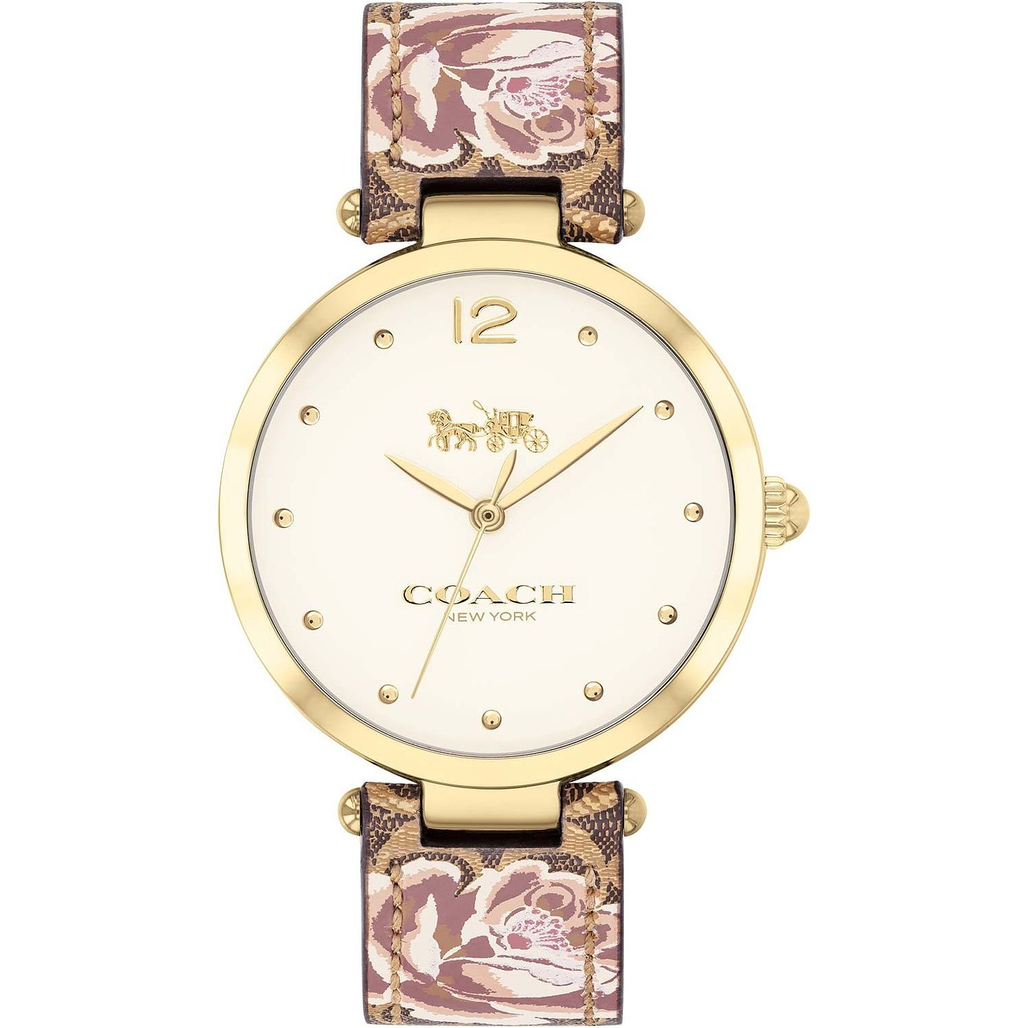 Coach Park Ladies' Floral Leather Strap - Product number 9783601