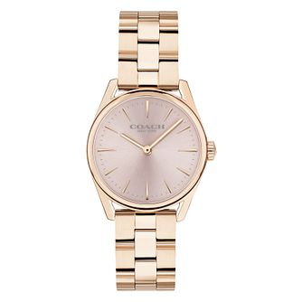Coach Modern Luxury Ladies' Rose Gold Plated Bracelet Watch - Product number 9783687