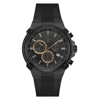 Gc Cableforce Men's Ion Plated Chronograph Black Strap Watch - Product number 9783873