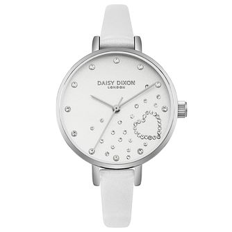 Daisy Dixon Zara White Leather Strap Watch - Product number 9784616