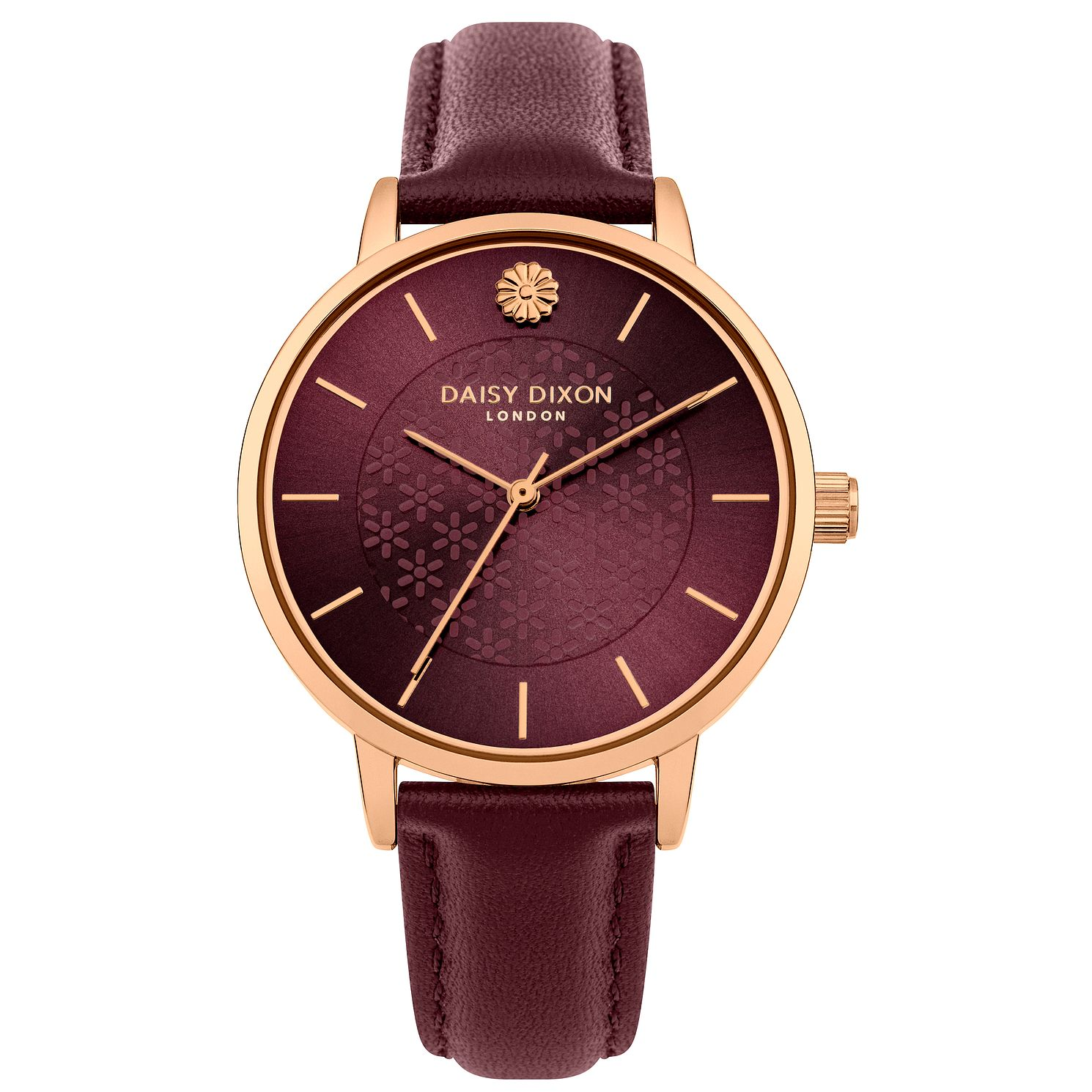 Daisy Dixon Lucy Red Leather Strap Watch - Product number 9784632