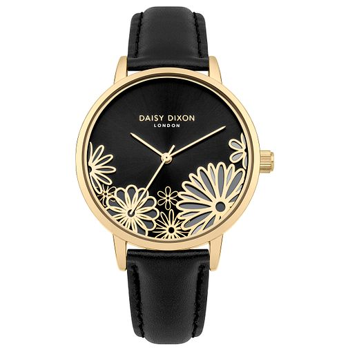 Daisy Dixon Laura Black Leather Strap Watch - Product number 9784667
