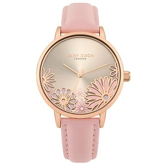 Daisy Dixon Laura Pink Leather Strap Watch - Product number 9784675