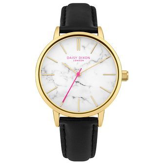 Daisy Dixon Nancie Black Leather Strap Watch - Product number 9784683