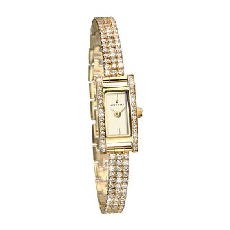 Accurist Ladies' Crystal Gold Plated Bracelet Watch - Product number 9784748