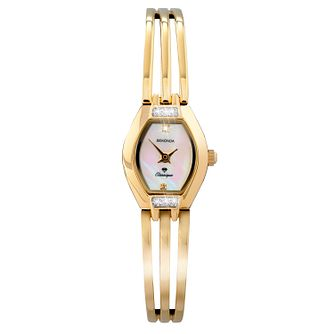 Sekonda Classique Ladies' Gold Plated Semi-Bangle Watch - Product number 9784837