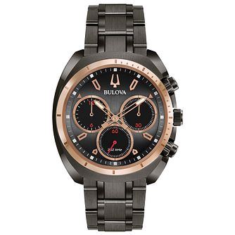 Bulova Men's Curv Chronograph Stainless Steel Bracelet Watch - Product number 9784888