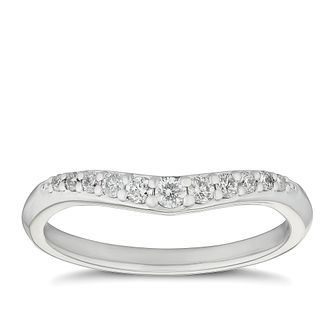 Platinum 0.18ct Diamond Shaped Wedding Band - Product number 9785779