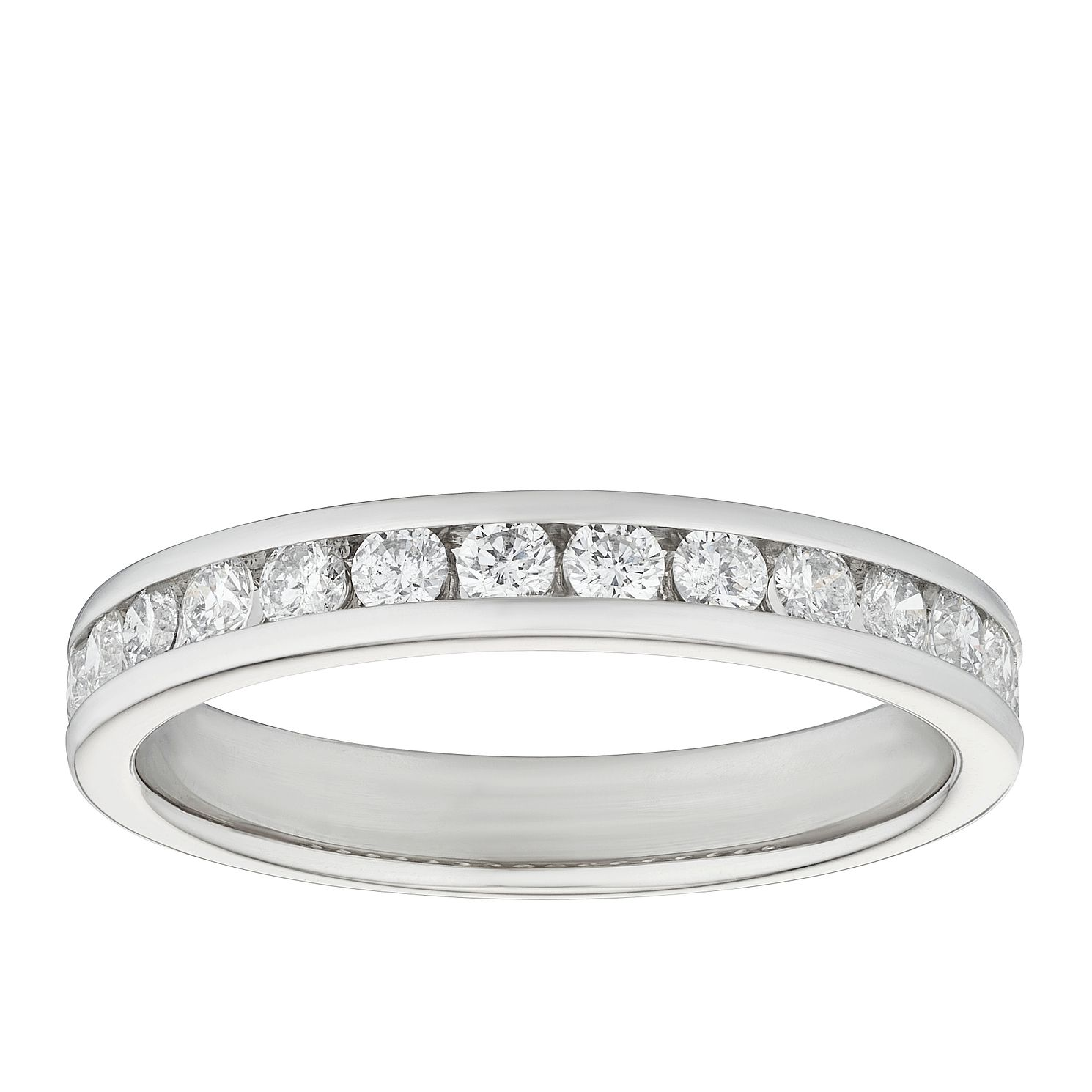 Platinum 0.50ct Diamond Channel Set Wedding Band - Product number 9786066