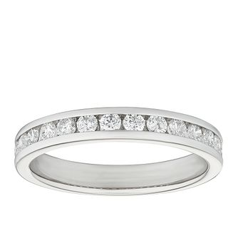 Platinum 1/2ct Diamond Channel Set Wedding Band - Product number 9786066